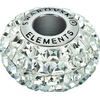 Swarovski 80201 15mm BeCharmed Pave  Beads with Jet Square Fancy Stones on Black base (12 pieces)