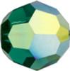 Swarovski 5000 8mm Round Beads Emerald AB Fully Coated  ( 288 pieces)