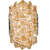 Swarovski 80401 16mm BeCharmed Pavé Spikes Beads with Crystal Golden Shadow Stones on Pearl Silk base (12 pieces)