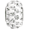 Swarovski 80501 15.5mm BeCharmed Pavé Cabochon Beads with Crystal Stones on White base (12 pieces)