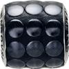 Swarovski 80701 9.5mm BeCharmed Pavé Metallics Beads with BLACK POLISHED Stones on Black base (12 pieces)