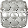 Swarovski 80701 9.5mm BeCharmed Pavé Metallics Beads with SILVER BRUSHED Stones on Silver base (12 pieces)