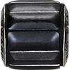 Swarovski 80801 9.5mm BeCharmed Pavé Metallics Beads with BLACK POLISHED Stones on Black base (12 pieces)