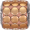 Swarovski 80801 9.5mm BeCharmed Pavé Metallics Beads with COPPER POLISHED Stones on  base (12 pieces)