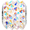 Swarovski 80901 11.5mm BeCharmed Pavé Spikes Beads with Crystal AB Stones on White base (12 pieces)
