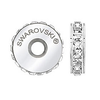 Swarovski 81001  Pavé Stopper Beads with Crystal Luminous Green Stones on Pearl Silk base (12 pieces)