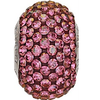 Swarovski 80101 14mm BeCharmed Pavé Beads with Crystal Lilac Shadow Chatons on Burgundy base (12 pieces)