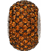 Swarovski 80101 14mm BeCharmed Pavé Beads with Smoked Topaz Chatons on Umber base (12 pieces)