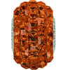 Swarovski 80201 15mm BeCharmed Pavé Beads with Smoked Topaz Square Fancy stones on Umber base (12 pieces)