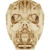 Swarovski 5750 13mm Skull Beads Crystal Golden Shadow (12 pieces)