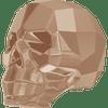 Swarovski 5750 13mm Skull Beads Crystal Rose Gold 2X (1 piece)