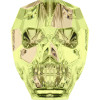 Swarovski 5750 19mm Skull Beads Crystal Luminous Green (12 pieces)