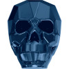Swarovski 5750 19mm Skull Beads Crystal Metallic Blue 2X (12 pieces)