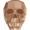 Swarovski 5750 19mm Skull Beads Crystal Rose Gold 2X (12 pieces)