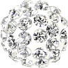 Swarovski 86001 8mm Pave Ball Bead w/ Crystal Chatons on White base (12 pieces)