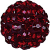 Swarovski 86001 8mm Pave Ball Bead w/ Indian Siam Chatons on Shining Red base (12 pieces)