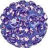 Swarovski 86001 8mm Pave Ball Bead w/ Tanzanite Chatons on Purple base (12 pieces)