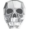 Swarovski 5750 19mm Skull Beads Crystal Light Chrome