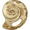 Swarovski 6731 28mm Sea Snail Pendants Crystal Golden Shadow (8 pieces )