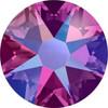 Swarovski Crystal Flatback Fuchsia Shimmer Effect
