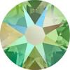 Swarovski Crystal Flatback Peridot Shimmer Effect