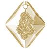 Swarovski 6926 26mm Growing Crystal Rhombus Pendants Crystal Golden Shadow