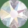 Swarovski 2028 40ss(~8.5mm) Xilion Flatback Crystal AB   Hot Fix