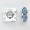 On Hand: Swarovski 5920 4mm Squaredelles Silver Light Sapphire   (12 pieces)