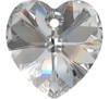 On Hand: Swarovski 6228 28mm Xilion Heart Pendants Crystal  (2 pieces)