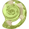 On Hand: Swarovski 6731 28mm Sea Snail Pendants Crystal Luminous Green (1 pieces )