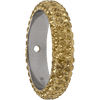 Swarovski 85001 14.5mm BeCharmed Pave Thread Ring Crystal Golden Shadow
