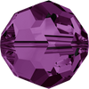 On Hand: Swarovski 5000 8mm Round Beads Amethyst  (12 pieces)