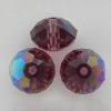 On Hand: Swarovski 5040 8mm Rondelle Beads Amethyst AB  (12 pieces)