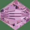 On Hand: Swarovski 5328 4mm Xilion Bicone Beads Crystal Lilac Shadow (72 pieces)