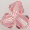 Swarovski 5328 4mm Xilion Bicone Beads Light Rose