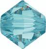 On Hand: Swarovski 5328 6mm Xilion Bicone Beads Light  Turquoise   (36 pieces)