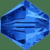 On Hand: Swarovski 5328 6mm Xilion Bicone Beads Sapphire   (36 pieces)
