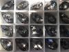 Swarovski 6106 22mm Pearshape Pendant Crystal Silver Night (4  pieces)