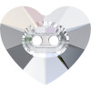 Swarovski 3023 16mm Heart Button Crystal ( 2 pieces)