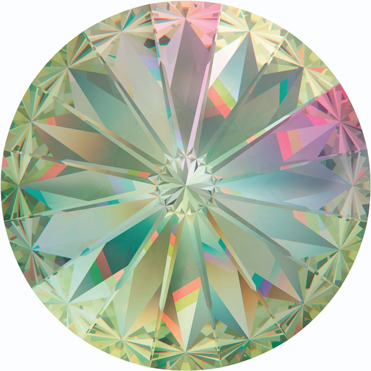 5863a77d5 Swarovski 1122 12mm Crystal Luminous Green Chatons | Rainbows Of Light