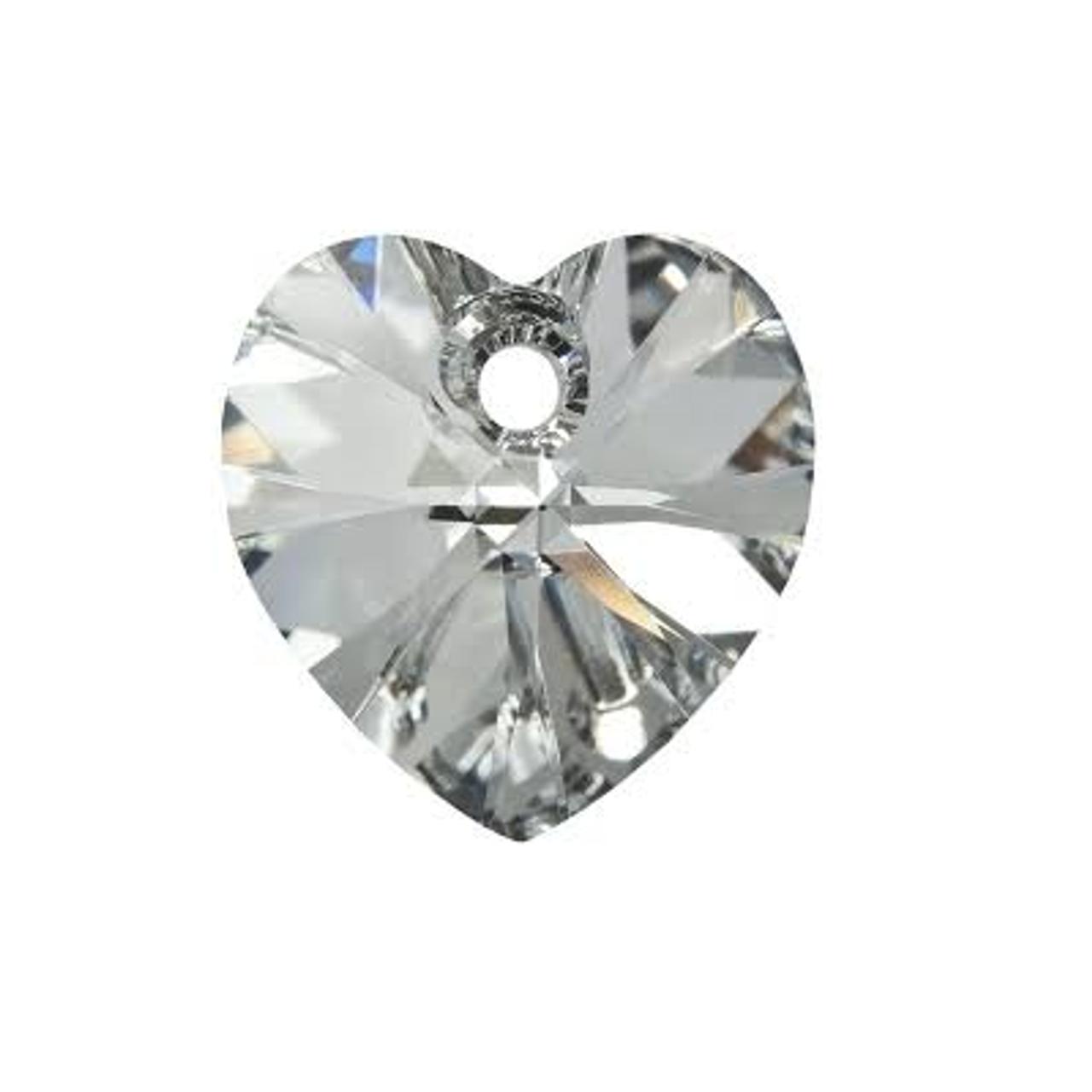549f83cf2c0e7 Swarovski 6228 10mm Xilion Heart Pendants Blue Zircon AB (18 pieces)