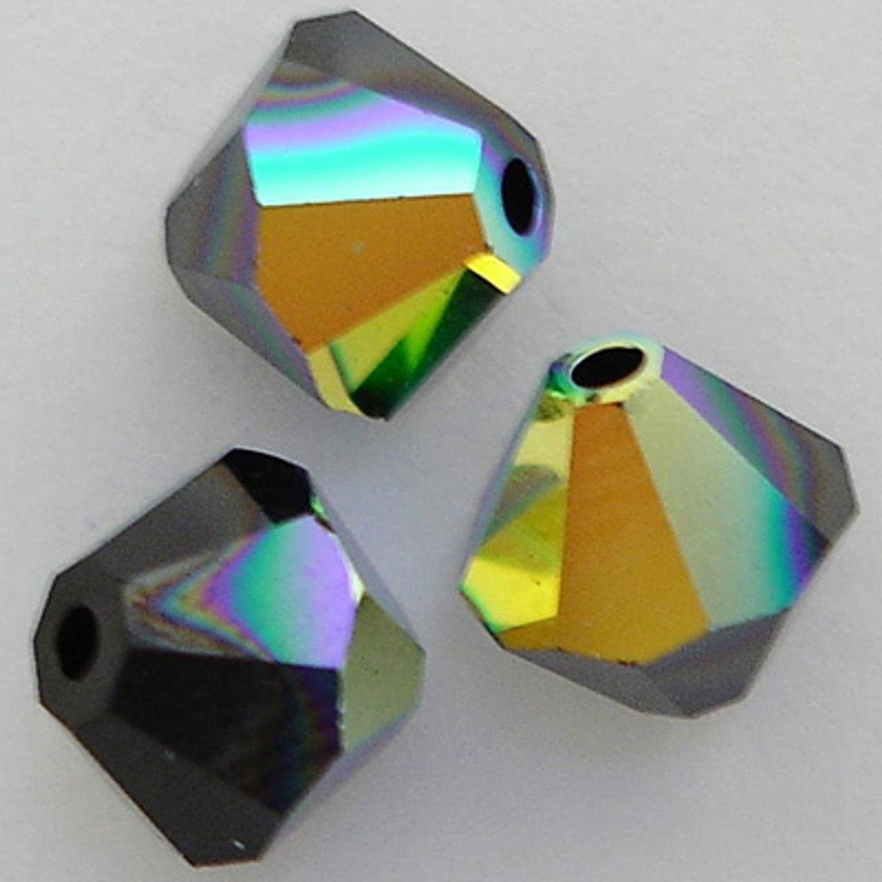 5328 Swarovski® Crystal Bicone Beads Jet AB