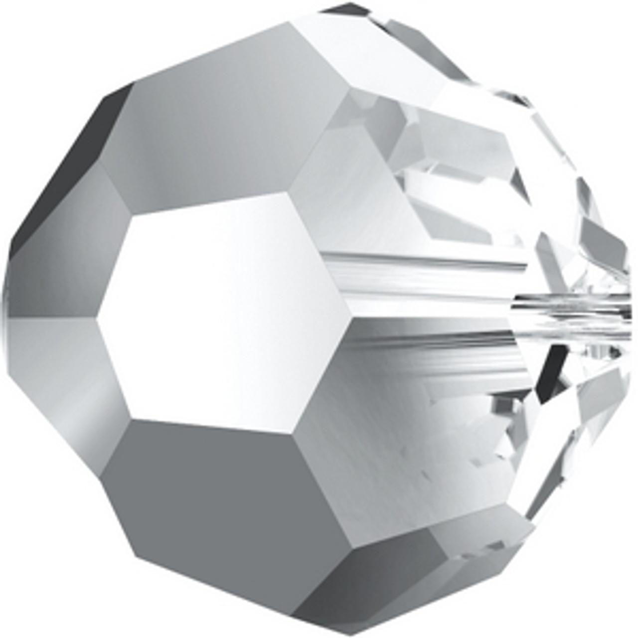 5000 Swarovski® Crystal Beads Round Crystal Light Chrome