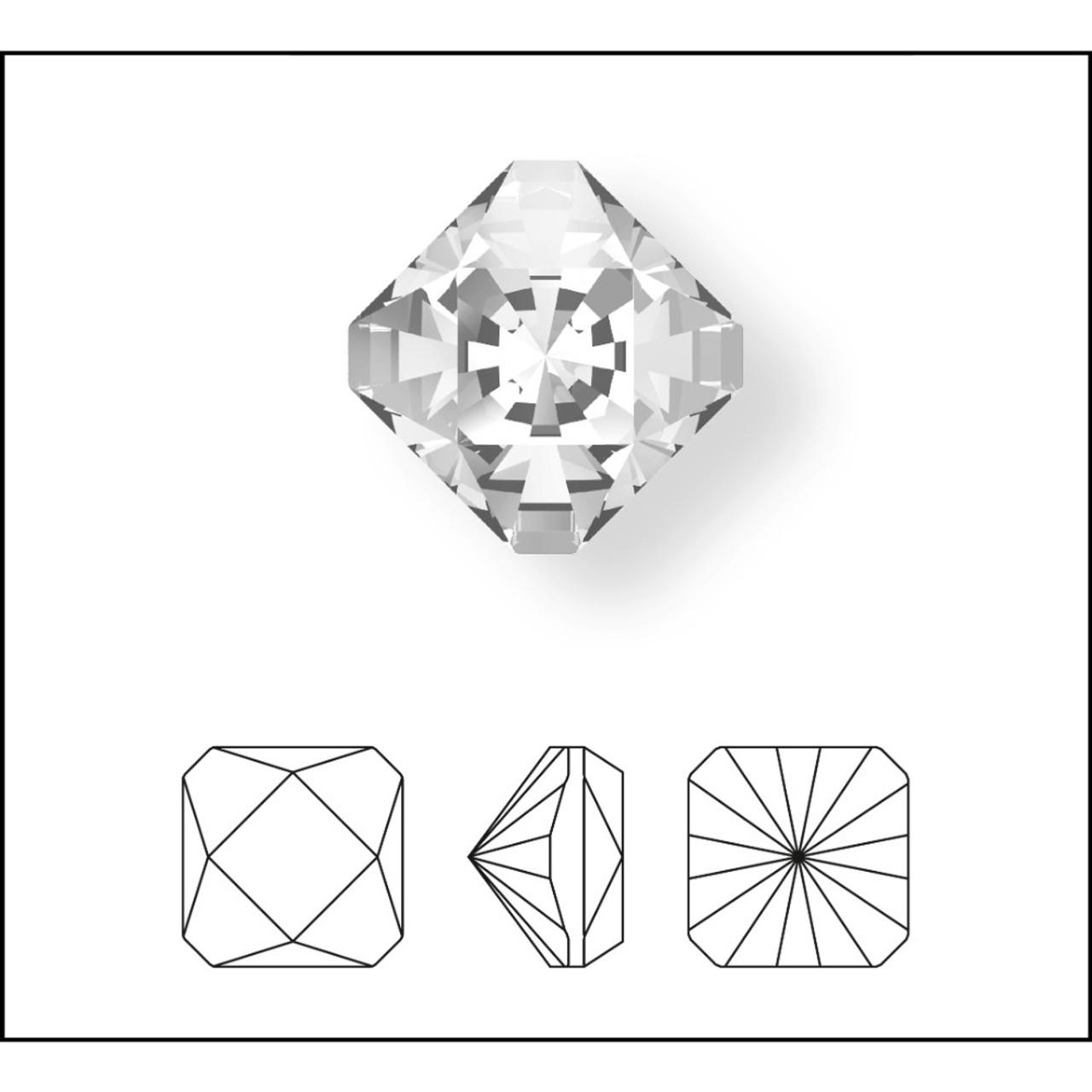 bde19c40c91 Swarovski 4499 10mm Kaleidoscope Square Fancy Stones Emerald ...