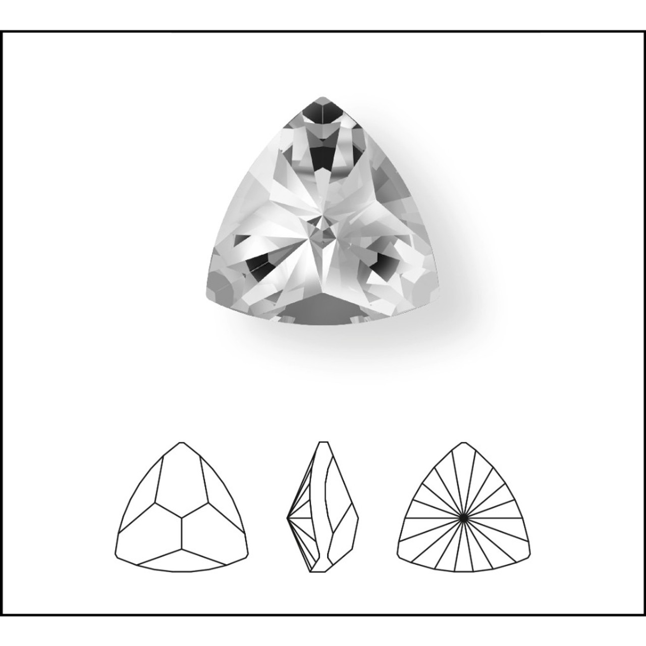 d399072e3e7 Swarovski 4799 20mm Kaleidoscope Triangle Fancy Stones Emerald ...