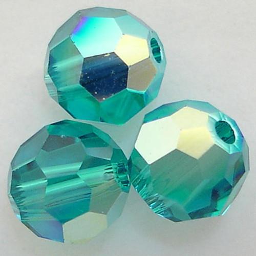 Swarovski 5000 6mm Round Beads Blue Zircon AB  (360 pieces)