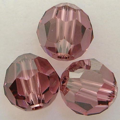 Swarovski 5000 6mm Round Beads Rose Satin  (360 pieces)