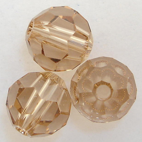 Swarovski 5000 7mm Round Beads Light Colorado Topaz   (12 pieces)