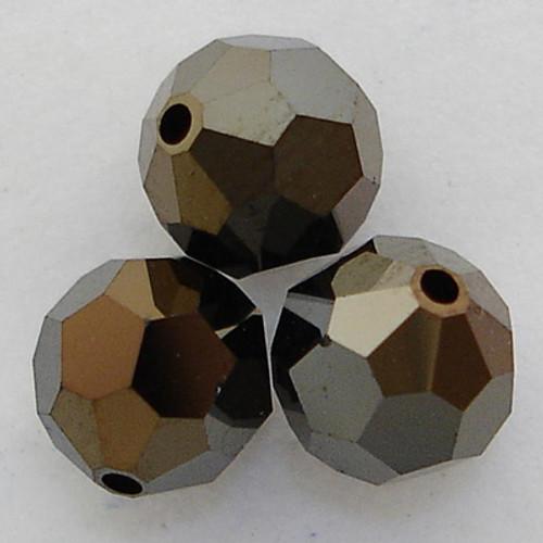 Swarovski 5000 8mm Round Beads Jet Nut 2X  (288 pieces)