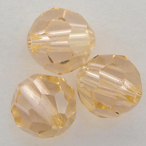 Swarovski 5000 8mm Round Beads Light Peach Champagne  (12 pieces)